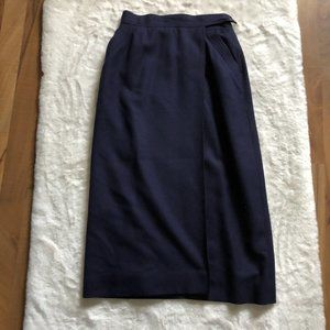 Christian Dior 100% wool faux wrap skirt size 8